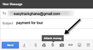 Making a payment to Easy Track Ghana