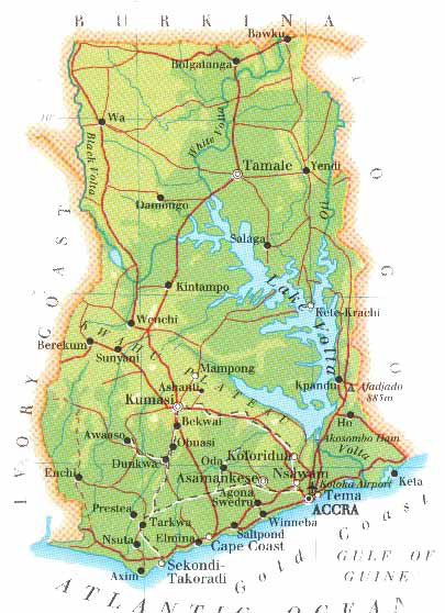 Ghana Maps - Accra Map - Kumasi Map - Easy Track Ghana