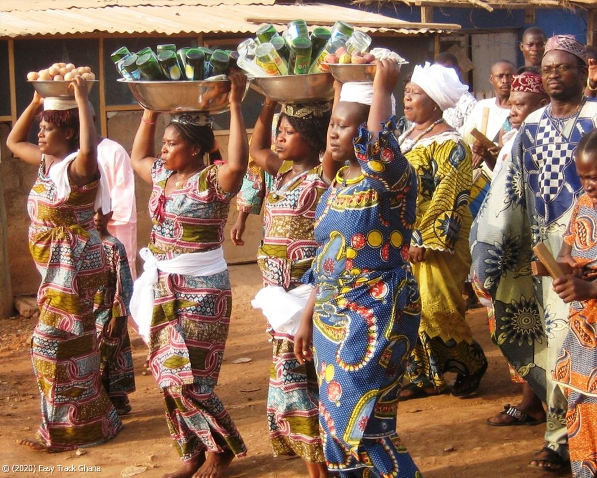 Traditional procession in Ghana