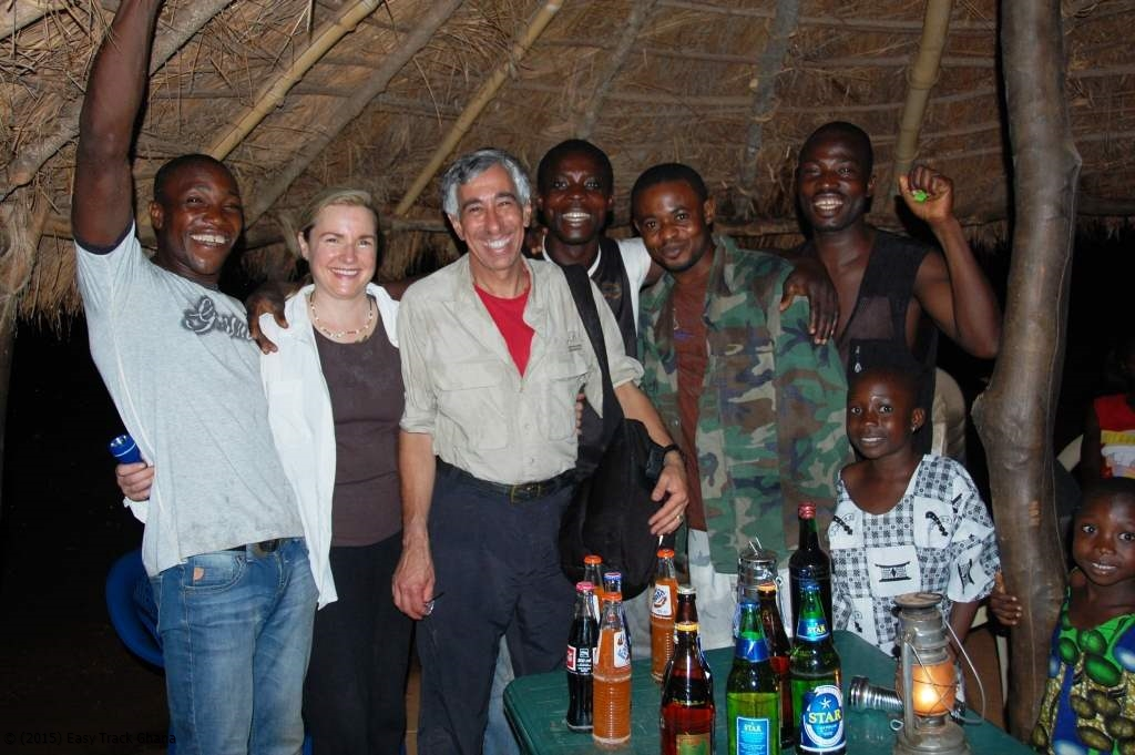 Birthday celebration at Bui National Park in Ghana