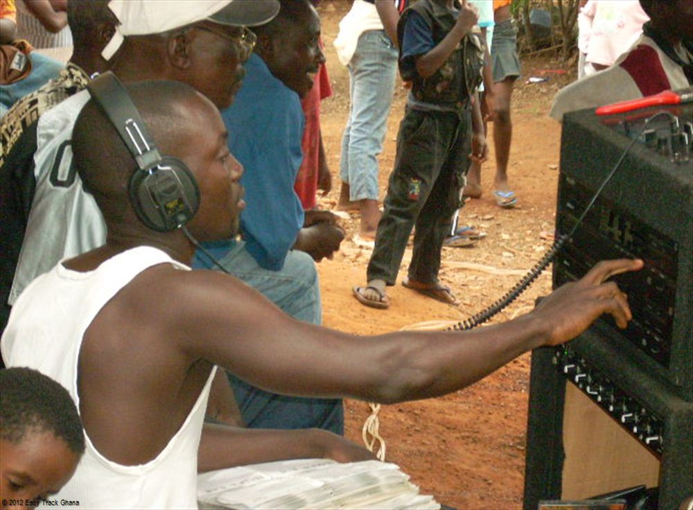 DJ at party in Ghana