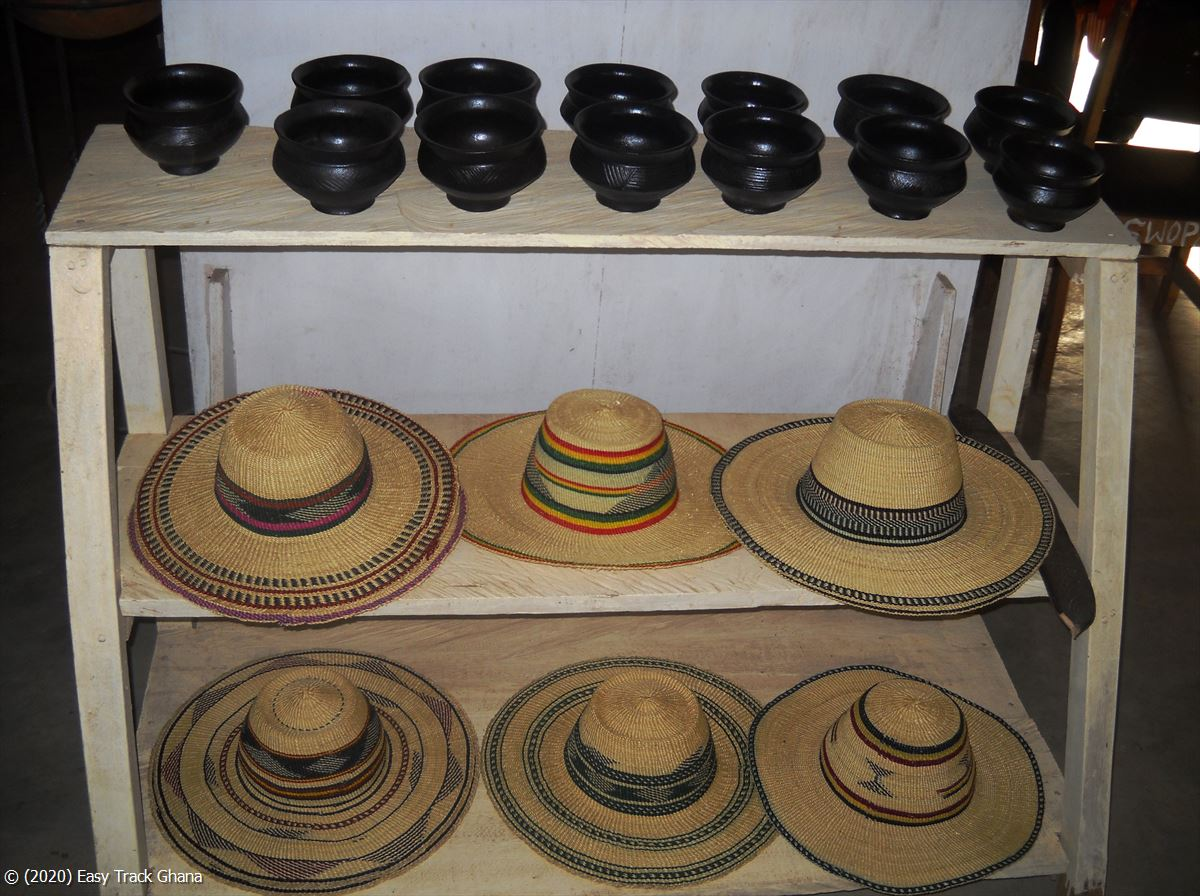 Woven hats from Ghana