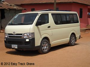 Minibus available for travel in Ghana