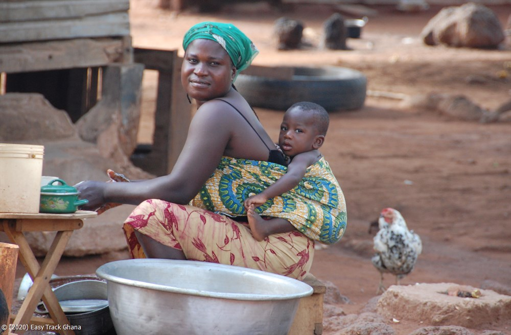 Mother with baby in Ghana
