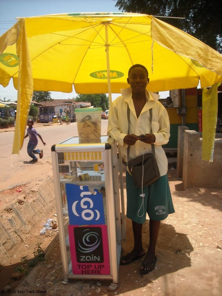 Kiosk for phone credits in Ghana