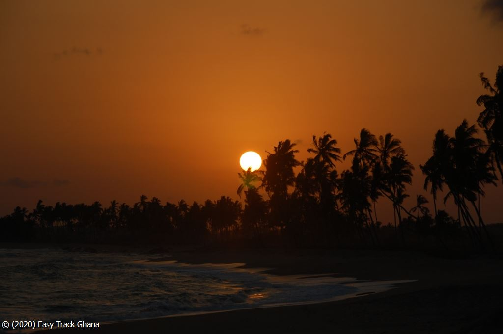 Sunset on a Ghana beach
