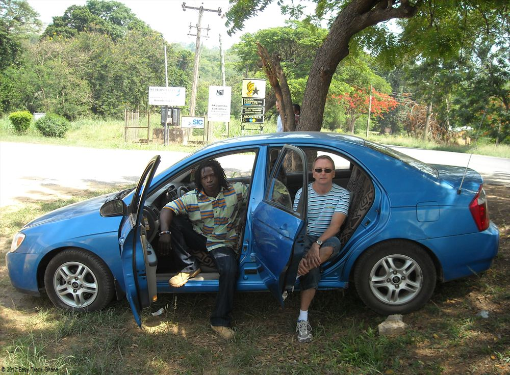 Driver and car in Ghana