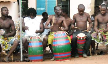 Traditional drumming in Ghana