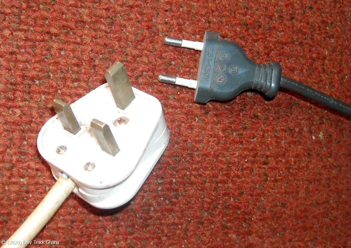 Electric plugs come in two styles in Ghana