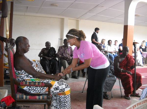Cultural etiquette ghana easy track ghana greeting chief in akropong ghana traditional m4hsunfo
