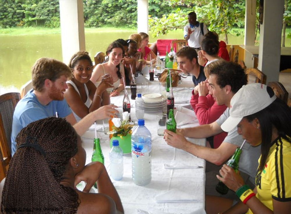 Lunch for group tour with Easy Track Ghana