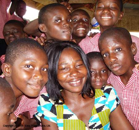 Kibi school for deaf children in Ghana