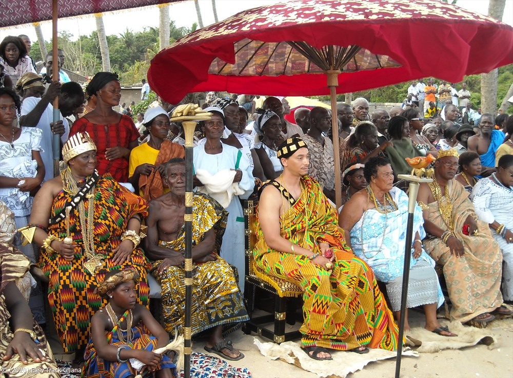 Traditional village chief at festival in Ghana