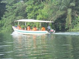 Rented motorboat on the Volta River