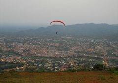 Paragliding from the Kwahu plateau in Ghana