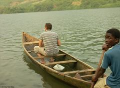 Canoe ride on the Volta River