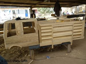 Coffin workshop in Teshie, Ghana