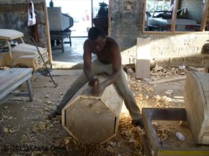 Crafting a Ga coffin in Ghana