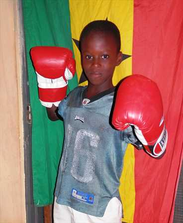 Young boxer in Ghana