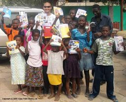 Gift of school supplies to 5-to-15 orphanage