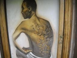 Painting of slavery scars