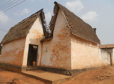 Besease shrine and traditional Ashanti home