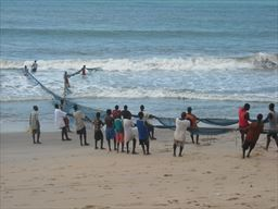 Fishing nets from the beach in Ghana