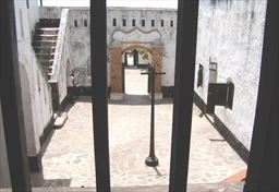 Inside Fort Apollonia in Ghana