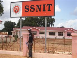 Social Security National Insurance Trust (SSNIT) roadsign