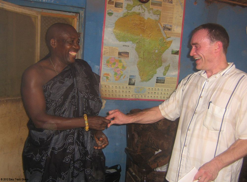 Traditional handshake of West Africa