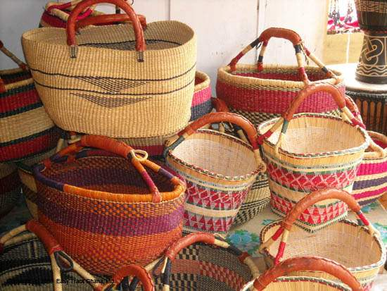Hand Crafted African Baskets In Ghana