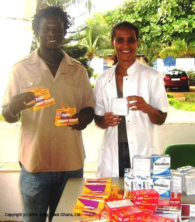 Gift of medicine to West Africa AIDS Foundation